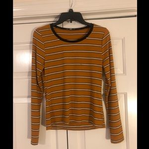 Charlotte Russe Striped Long Sleeve Tee